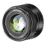 Neewer 35mm F1,2 Apertura Grande Prime APS-C Lente de Aluminio Compatible con Fuji X Mount...