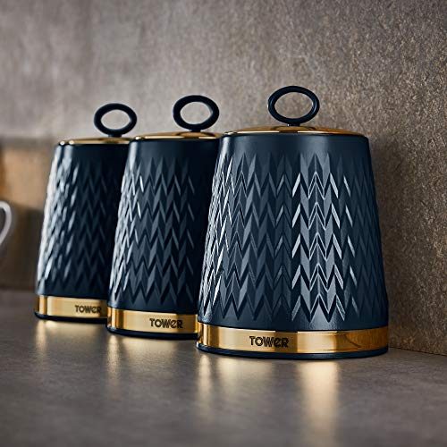 Tower Empire Set of 3 Storage Canisters 1.3 Litre - Midnight Blue