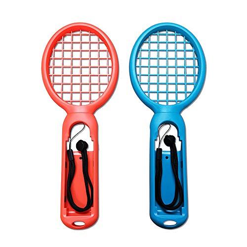OSTENT 2 Paquetes Controlador del controlador de la manija de la raqueta de tenis para Nintendo Switch Joy-Con Color Rojo y Verde