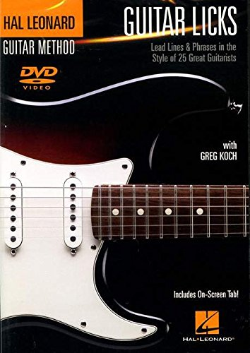 Greg Koch: Guitar Licks – Lead Lines And Phrases in the Style Of 25 Great Guitarists. Para Guitarra Tablatura, Guitarra