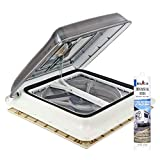 Fiamma, Turbo Vent clear crank roof hood, polar control with thermostat, 40x 40cm, incl.Dekalin sealant