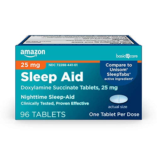 Amazon Basic Care Sleep Aid Tablets, Doxylamine...