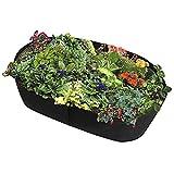 Warooma - Macetero de tela para jardín, rectángulo, transpirable, bolsa de cultivo para plantas, maceta de verduras y flores duradera, cama elevada de 60 cm de largo x 60 cm de ancho (negro)