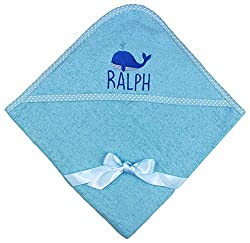 Dimensions: 75cm x 75cm Super soft and absorbent cotton High quality personalised name embroidery A perfect baby gift!