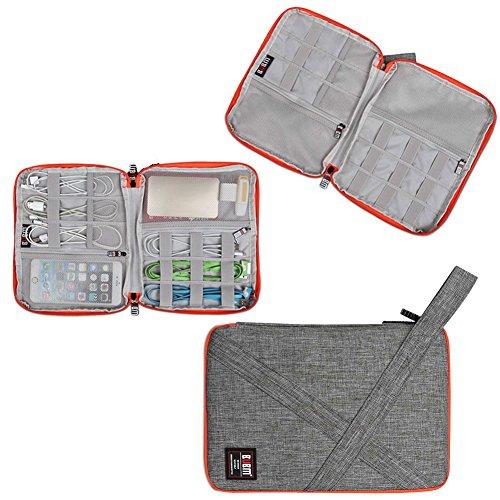 Travel Organizer, BUBM Universal Travel Gear Organizer/Electronics Accessories Bag/Cable Bag/USB Drive Shuttle Case-Grey