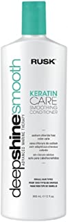RUSK Deepshine Smooth Keratin Care Smoothing Conditioner, 12 Oz, Daily Conditioner for Chemically and Color-Treated Hair, ...