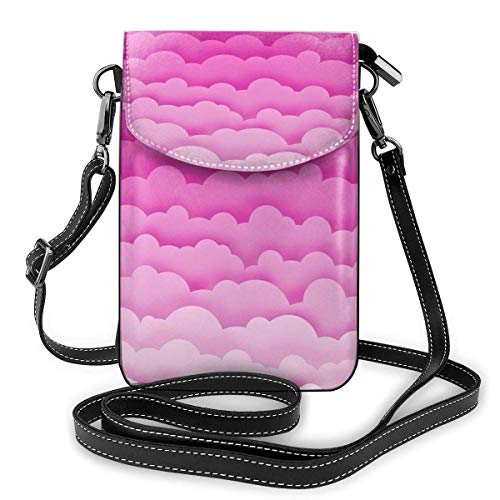 alemon Handy-Geldbeutel-kleine Crossbody-bunte Wolken-Geldbörsen-Taschen mit justierbaren Schultergurt-Frauen