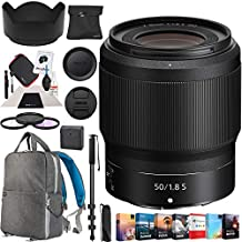 Nikon NIKKOR Z 50mm f/1.8 S Lens for Z Mount Mirrorless Camera 20083 with 62mm Filter Kit Monopod Deco Gear Photography Backpack Photo Video Editing Software Bundle