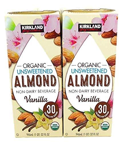 Kirkland Organic Unsweetened Almond Non-Dairy Beverage/Milk Vanilla 2