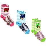 PJ Masks Boys Girls 3 pack Crew Socks (4-6 Toddler (Shoe: 7-10), White/Multi)