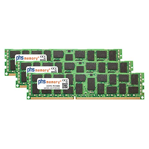 PHS-memory 12GB (3x4GB) Kit RAM Speicher für Fujitsu Primergy RX300 S5 DDR3 RDIMM 1333MHz PC3-10600R