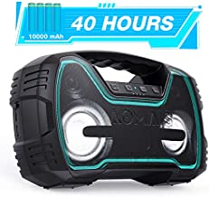 Portable IPX7 Waterproof Bluetooth Speakers, 40-Hour Playtime Wireless Outdoor Speaker, 25W Rich Bass Impressive Sound, Stereo Pairing, Built-in Mic, 100ft Bluetooth, LED Lights for Home Party