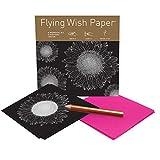 "Flying Wish Paper - Write it., Light it, & Watch it Fly - SUNFLOWERS, Shining Star - 5"" x 5"" - Mini Kits"