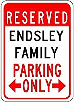 個人的な駐車場の看板endsley家族駐車場