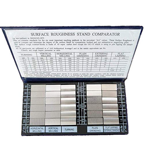 Roughness Comparator (30 pcs/Set),Optional Surface Roughness Meter