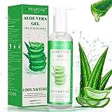 Gel de Aloe Vera, 100% Orgánico Aloe Vera Gel de Crema Hidratante con Ácido Hialurónico y Vitamina C, Para Pieles Secas y Quemadas Por el Sol, Gel Hidratante Antiinflamatorio Anti-Edad, 250 ml
