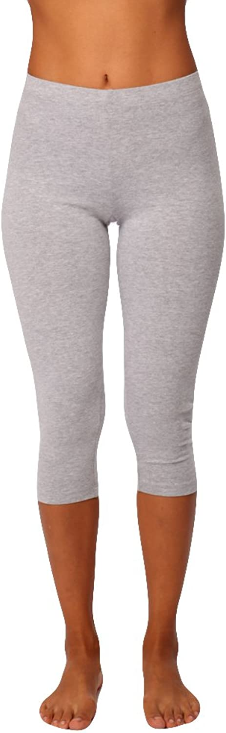 InTouch Womens Dance Combed Cotton Mid Calf Legging