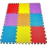 40 SQ FT / 3.68M² / 36 Piece Interlocking Soft Kids Baby EVA Foam Activity Play Mat Floor Tiles *SALE*
