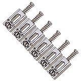 6 Piezas Selleta de Cuerdas de Puente Accesorios Repuesto para Guitarra Eléctrica - Guitar Bridge String Saddles - Plata
