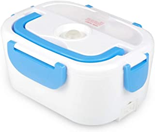 Electric Heating Lunch Box Food Heater Portable Lunch Containers Warming Bento for Home&Office Use 110V Hot Lunch Box (Blue)