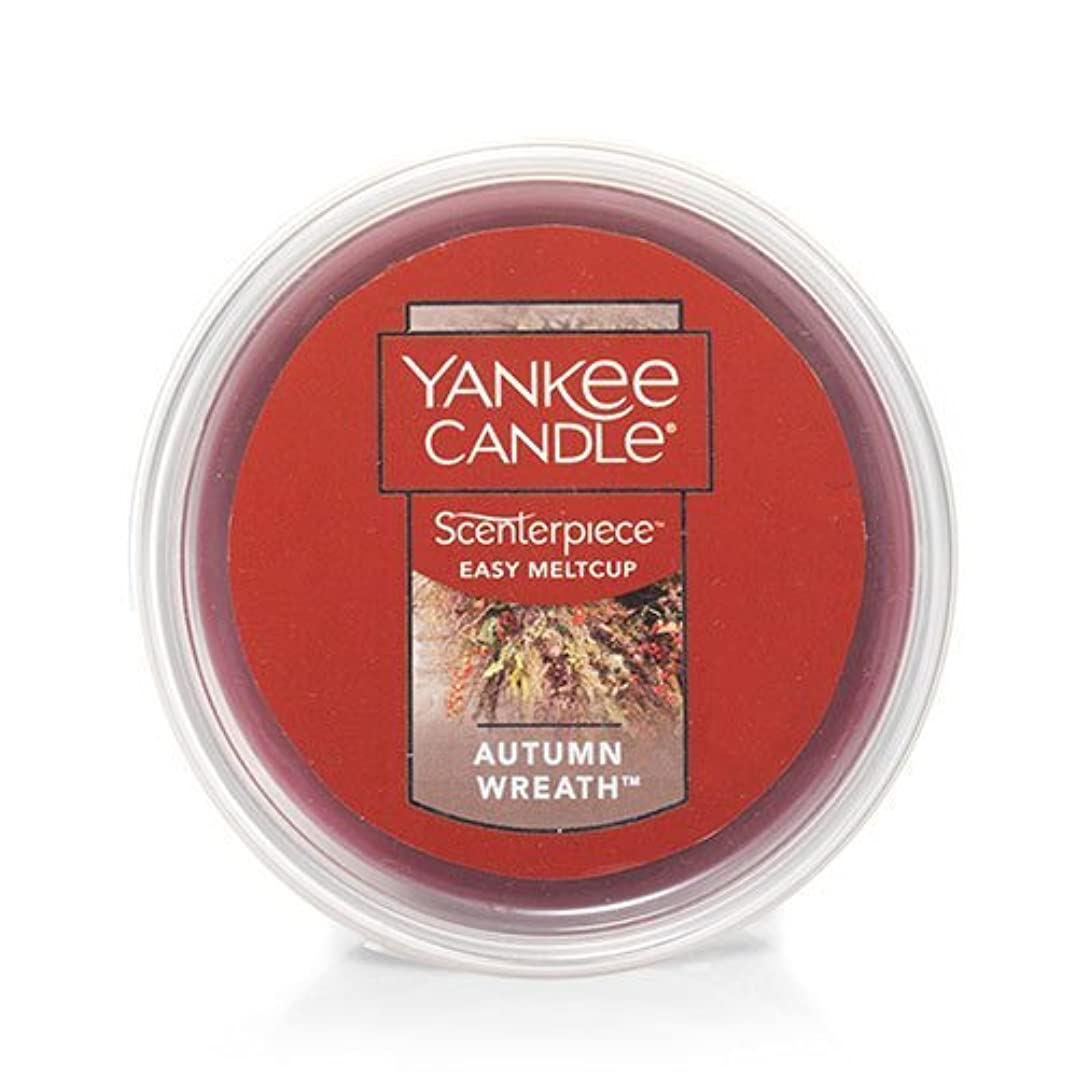 お酒ファブリック麦芽Yankee Candle Autumn Wreath Scenterpiece Easy MeltCup , Food & Spice香り2.2?Oz