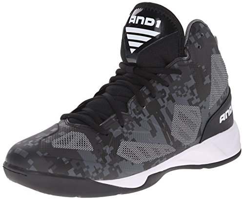 AND1 Herren Xcelerate 2 Basketballschuhe, Schwarz (Black/Silver-White), 41