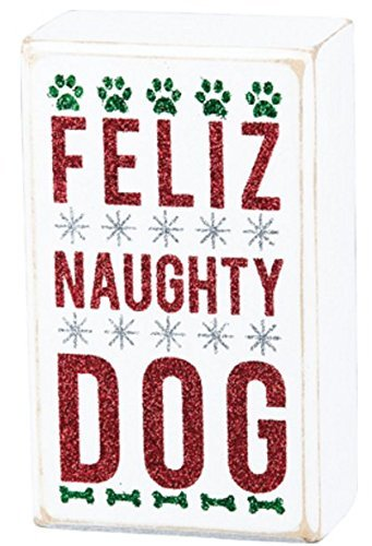 Primitives By Kathy - Box Sign - Feliz Naughty Dog
