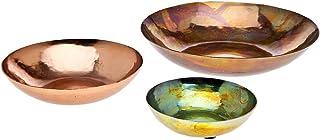 Godinger Metalic Bowl, Decorative Plate Set of Three - Copper