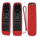 Funda protectora de silicona para mando a distancia universal Sofabaton U1, mando a distancia Bluetooth Harmony, a prueba de golpes, lavable, con lazo (rojo)
