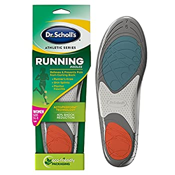 Dr Scholl's Running Insoles // Reduce Shock and Prevent Common Running Injuries  Runner s Knee Plantar Fasciitis and Shin Splints  For Women s 5.5-9 also Available for Men s 7.5-10 & Men s 10.5-14