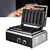 Máquina crujiente de 1500 W para gofrera eléctrica con revestimiento antiadherente para hornear gofres, perritos calientes y platos crujientes.