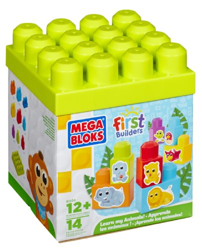 Mega Bloks - 81206 - Jouet De Premier Age - First Builders - Apprendre Les Animaux