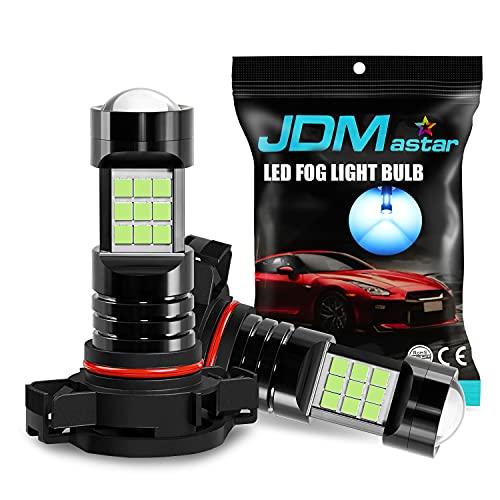 JDM ASTAR Extremely Bright PX Chips 5202 5201 LED Fog Light Bulbs, Ice Blue