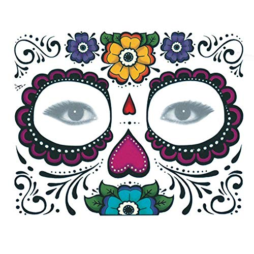 Delighted 10pcs Disposable Eyeshadow Sticker Magic Eye Face Temporary Tattoo For Halloween Party - 007
