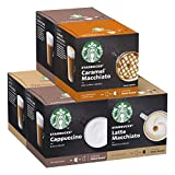Starbucks Pack Variété White Cup by Nescafe Dolce Gusto 6 x 12 capsules (72 capsules)
