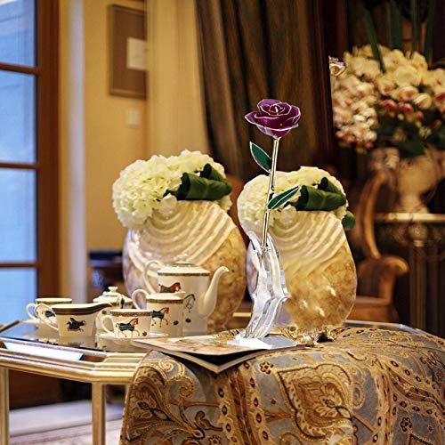 KUIDAMOS Echte Rose 24 Karat vergoldet 24 Karat Ewige vergoldete Rose, rote Rose Valentinstag Blumengeschenke für Sie