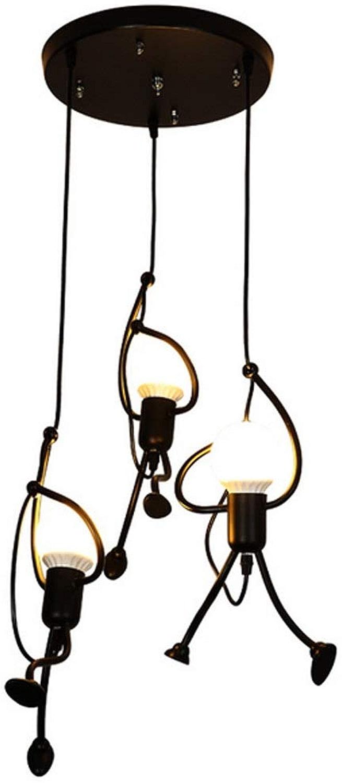 Wsw Lumineux Postmodern Creative Chandelier lumière Iron Style de Restaurant Boutique lumière Swing Chandelier lumièreing Haut de Gamme (Style   C)