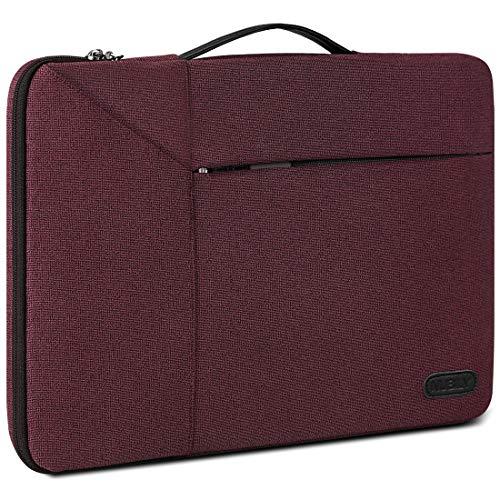 "Borsa Porta PC 14 Pollici Custodia PC Impermeabile Antiurto Borsa per Laptop Notebook Ultrabook Portatile Ventiquattrore per MacBook Air 13"",MacBook Pro 15 Pollici 2019/2018/2017/2016, Rosso"