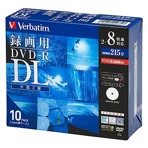 バーベイタムジャパン(Verbatim Japan) 1回録画用 DVD-R DL CPRM 215分 10枚 ホワイトプリンタブル 片面2層 2-8倍速 VHR21HDSP10