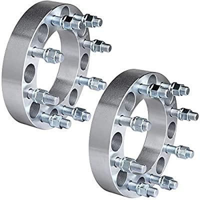 """ECCPP 8 lug Wheel Spacers Adapters 1.5"""" 8x6.5 to 8x6.5 8x165.1 to 8x165.1 126.15mm 2x fit for Ford F250 F350 Dodge Ram 2500 3500 with 9/16"""" Stud"""