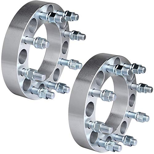 "ECCPP 8 lug Wheel Spacers Adapters 1.5"" 8x6.5 to 8x6.5 8x165.1 to 8x165.1 126.15mm 2x fit for Ford F250 F350 Dodge Ram 2500 3500 with 9/16"" Stud"