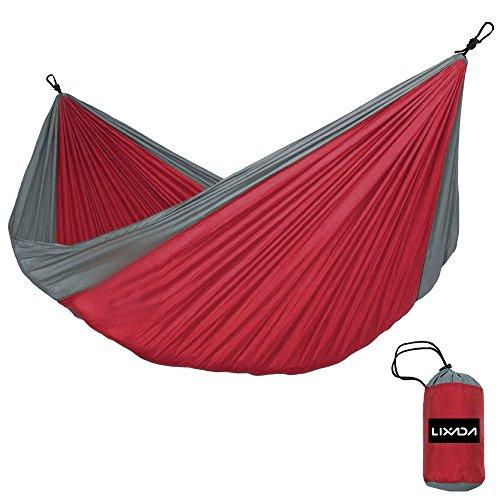 Lixada Hamaca Portátil Playa para 2Personas Tela de Nailon Resistente para Camping Jardín y Playa