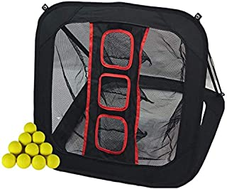 Just Play Sports Golf Chipping Net w/ 12 Foam Practice Balls Collapsible/Pop Up Golfing Net with Movable Target, Indoor/Outdoor Practice