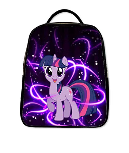 Fashionable PU Leather Causul Backpack Satchel With My little pony Twilight Sparkle Pattern Printed
