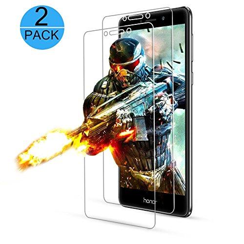 Yatouh [2-Pack] Verre Trempé Huawei Honor 6X,Condant Protection d'écran Honor 6X,Film Protection en Verre Trempé Haute Transparence et Ultra Résistant pour Huawei Honor 6X