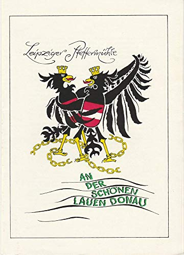 Programmheft An der schönen lauen Donau Premiere 28.5.1978 Spielzeit 1977 / 78 2. Programm
