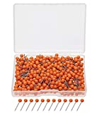 Tupalizy 1/8 Inch Small Round Ball Head Decorative Push Pins Map Thumb Tacks for Travel Map Art Picture Photo Canvas Bulletin Cork Board Wall DIY Craft Home School Office Use, 500PCS (Orange)