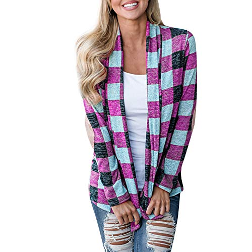 Alikeey Hemd wit dames mantel winter grote maat vrouwen casual plaid open cape mantel kimono lange mouwen losse jas cardigan tops