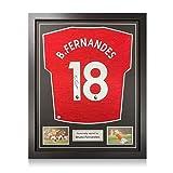 exclusivememorabilia.com Camiseta del Manchester United firmada por Bruno Fernandes. Marco estándar