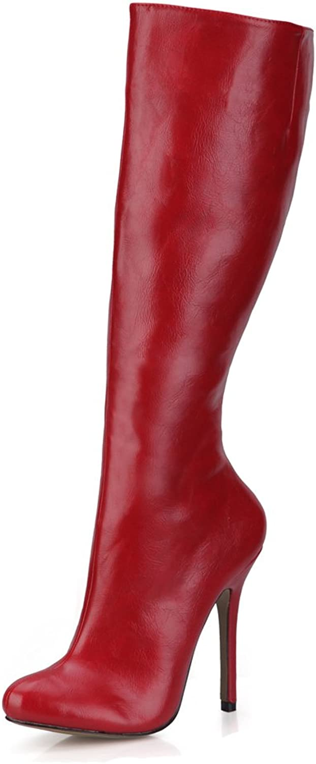 CHMILE CHAU Women Fashion Knee-High Boots Sexy Stiletto High Heeled Long Boots